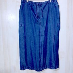 AUGUST MAX WOMAN Denim Maxi Skirt 1X